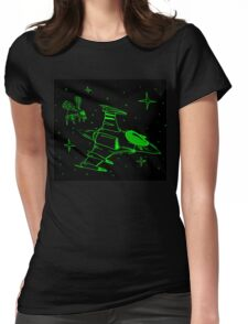 Galaga green and black  Womens Fitted T-Shirt