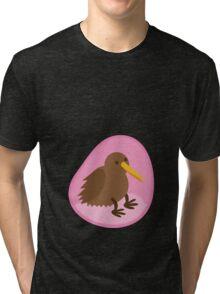 little kiwi bird in the womb Tri-blend T-Shirt