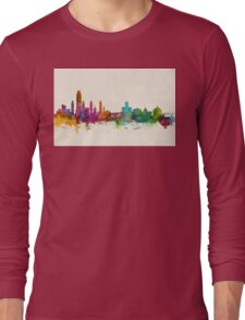 Albany New York Skyline Long Sleeve T-Shirt