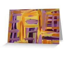 Purple and Yellow Greeting Card