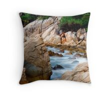Rocky Seaside Throw Pillow