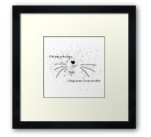 Dan & Phil | The cat whiskers- they come from within Framed Print