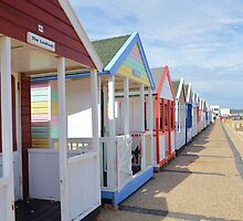 Beach Huts by Malcolm Snook