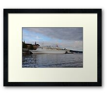 Cruise Ship Black Watch Framed Print