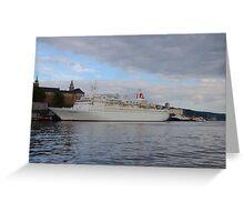 Cruise Ship Black Watch Greeting Card