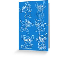 Rough Sketches of Stitch Collection Greeting Card