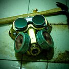 Dark Steampunk Gas Mask and Goggles by Jon Burke