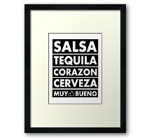 Salsa Tequila Corazon.. Framed Print