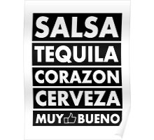 Salsa Tequila Corazon.. Poster