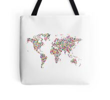 Stars Map of the World Map Tote Bag