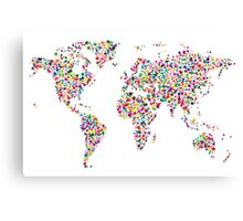 Stars Map of the World Map Canvas Print