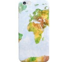 Map of the World Watercolour iPhone Case/Skin