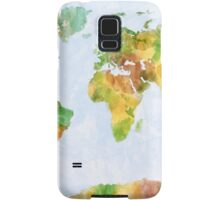 Map of the World Watercolour Samsung Galaxy Case/Skin
