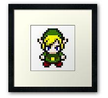 Zelda - Pixel Framed Print
