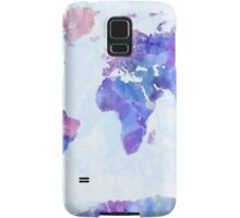 Map of the World Map Watercolor Painting Samsung Galaxy Case/Skin