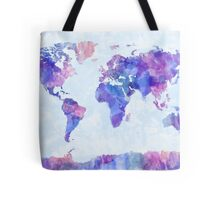 Map of the World Map Watercolor Painting Tote Bag