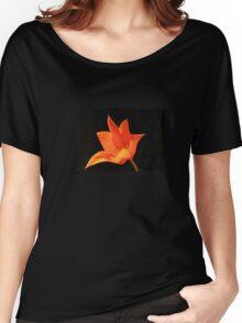 T Shirt Orange Flower  Women's Relaxed Fit T-Shirt