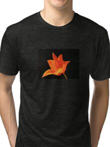 T Shirt Orange Flower  Tri-blend T-Shirt