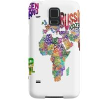 Text Map of the World Samsung Galaxy Case/Skin