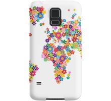 Flowers Map of the World Map Samsung Galaxy Case/Skin