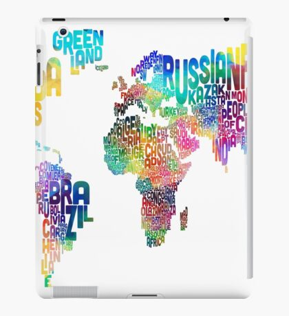 Text Map of the World iPad Case/Skin