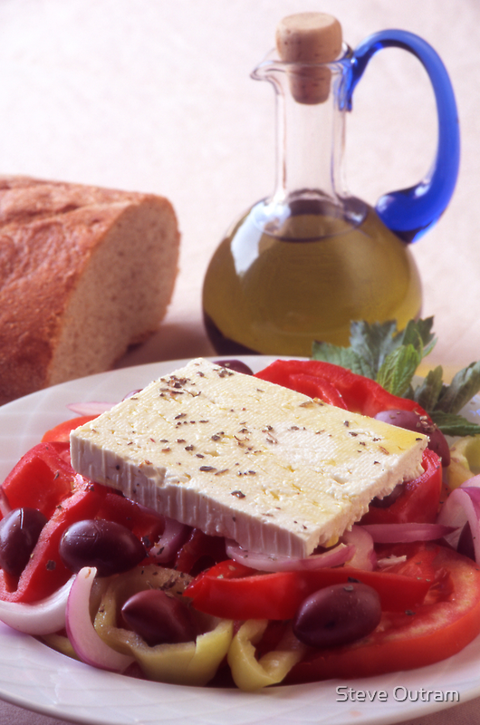 A Greek Salad by Steve Outram