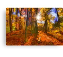 Brilliant, Colorful Autumn Forest Impression Canvas Print