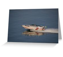 Classic Speedboat Greeting Card