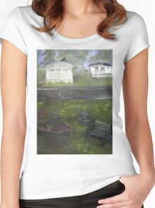 My Backyard - En plein air  Women's Fitted Scoop T-Shirt