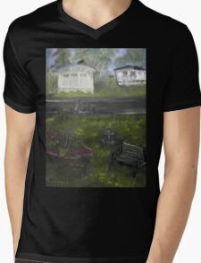 My Backyard - En plein air  Mens V-Neck T-Shirt