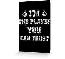 The player Greeting Card