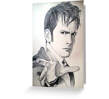 The Tenth Doctor Sketch Greeting Card