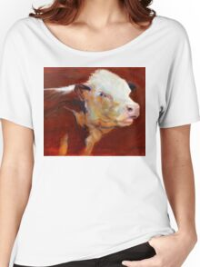 Fillion, ( cow ) from original oil painting by Madeleine Kelly Women's Relaxed Fit T-Shirt