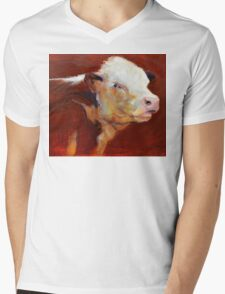 Fillion, ( cow ) from original oil painting by Madeleine Kelly Mens V-Neck T-Shirt