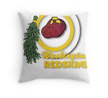 Pocket Version Tee Potato Redskins Throw Pillow
