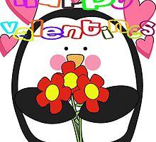 Happy Valentines day penguin  by Sammygirls