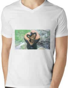PEEK A BOO Mens V-Neck T-Shirt