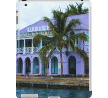 Colorful Shopping Experience on Tortola, British Virgin Islands, BVI  iPad Case/Skin