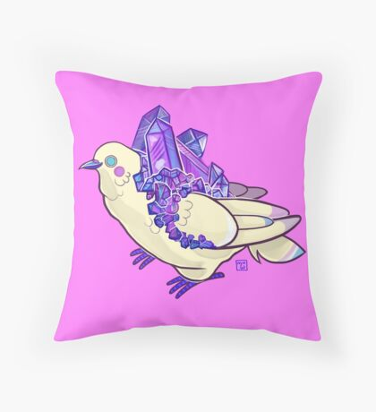 Amethyst Rock Candy Cookie Dove Throw Pillow