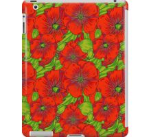 Poppy Floral Pattern iPad Case/Skin