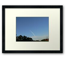 Space Shuttle Enroute Framed Print
