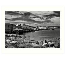 Indian Harbour - B&W Art Print