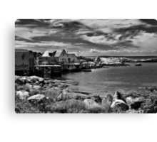 Indian Harbour - B&W Canvas Print