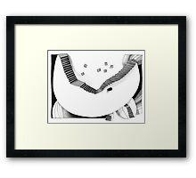 Halbmondtreppe / Halfmoon Stairway  Framed Print