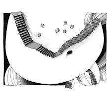 Halbmondtreppe / Halfmoon Stairway  Photographic Print
