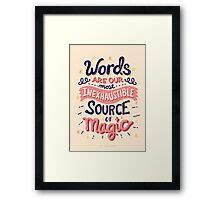 Source of Magic Framed Print