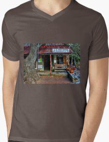 Luckenbach TX Mens V-Neck T-Shirt