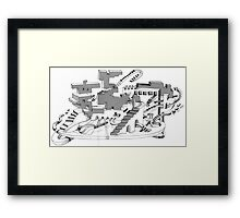 Ort on WWW / Place on WWW Framed Print