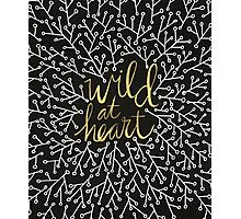 Wild at Heart – Gold on Black Photographic Print