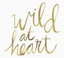 Wild at Heart – Gold & Black on White T-Shirt